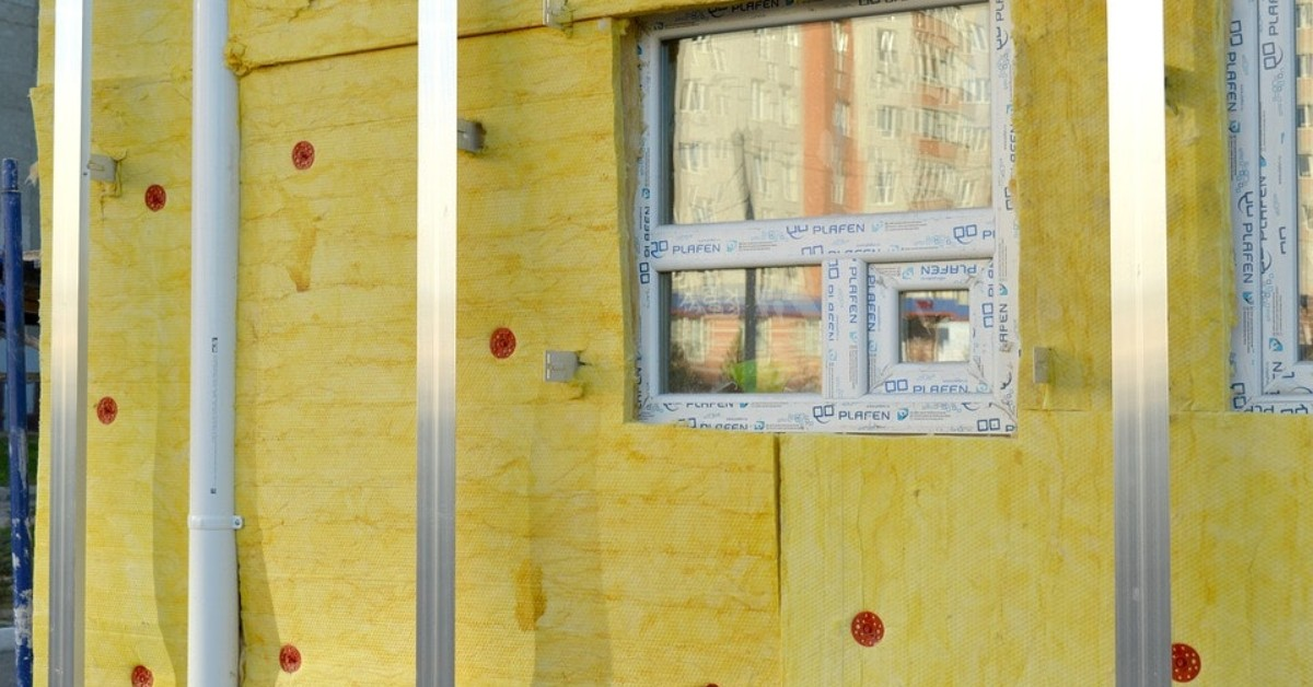 Yellow insulation. Asbestos is in older insulation, and it's important to understand how to handle it properly.