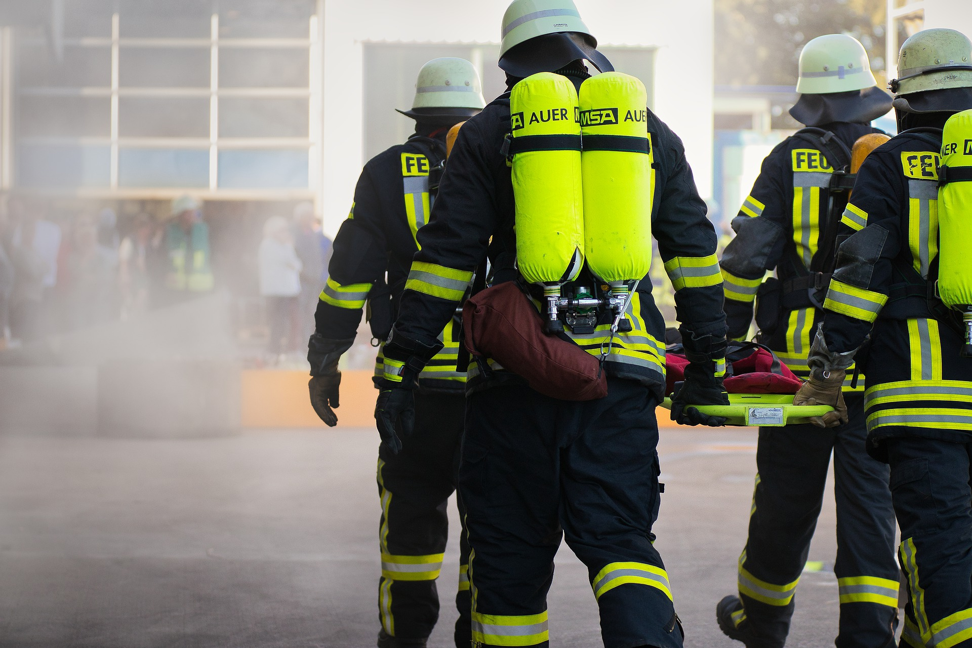 firefighters, smoke